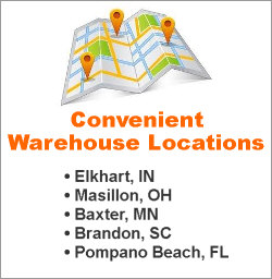 Convenient Warehouse Locations